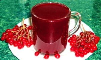 Калиновый сок, эффективное средства от кашля для детей