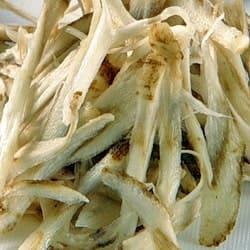 Свежие порезанные корни лопуха