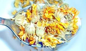 Столовая ложка сухих цветков календулы