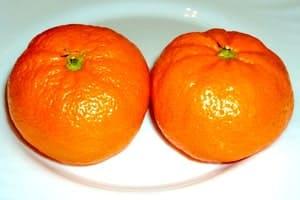 Два плода. Мандарины полезны для организма женщины, мужчины, ребенка, человека после 50 лет