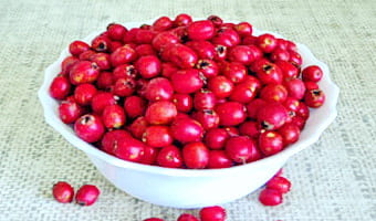 Тарелка ягод боярышника